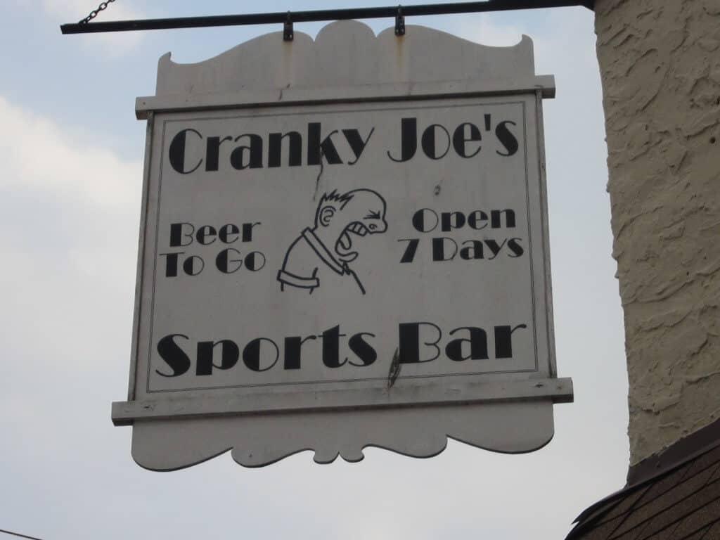 11-11 cranky joes sign