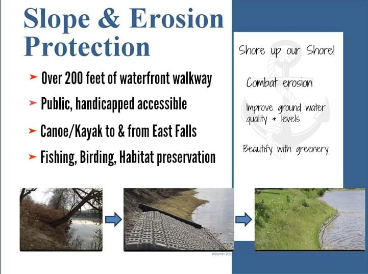 Slope and Erosion Protection proposed landing PM