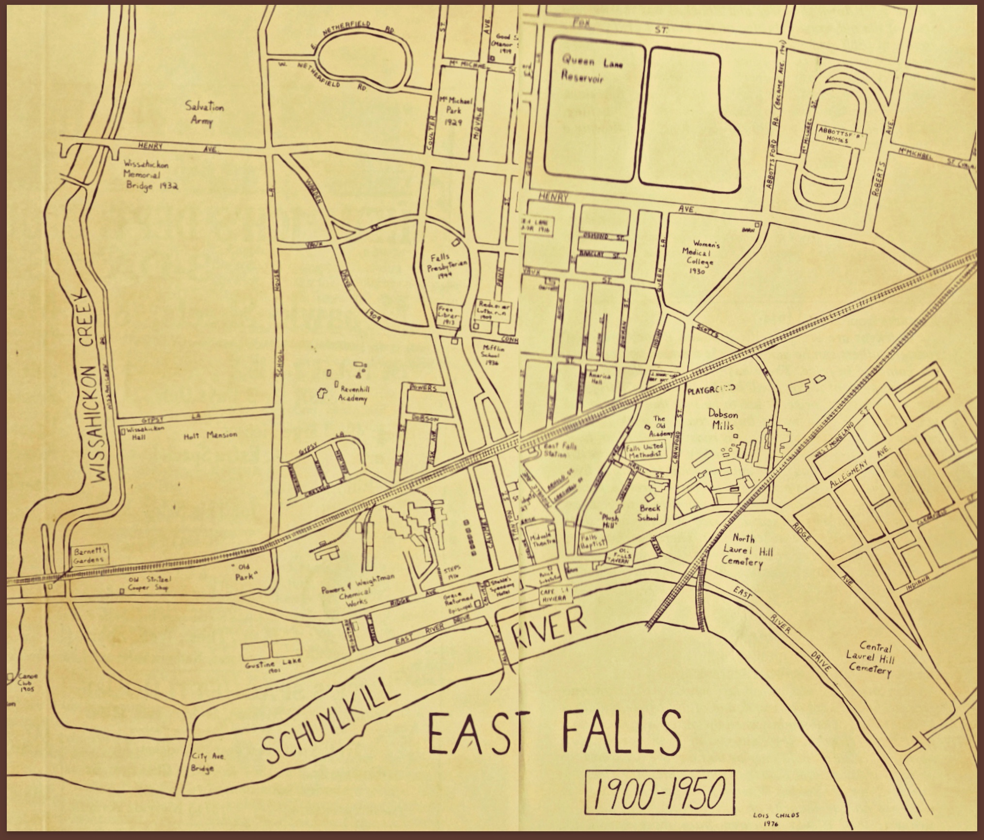 East Falls Local 300 years map 1900 to 1950 guest blogger russ gardner, sr \u201cgrowing up in east falls\u201d east dwyer 1950 wiring diagram at gsmportal.co
