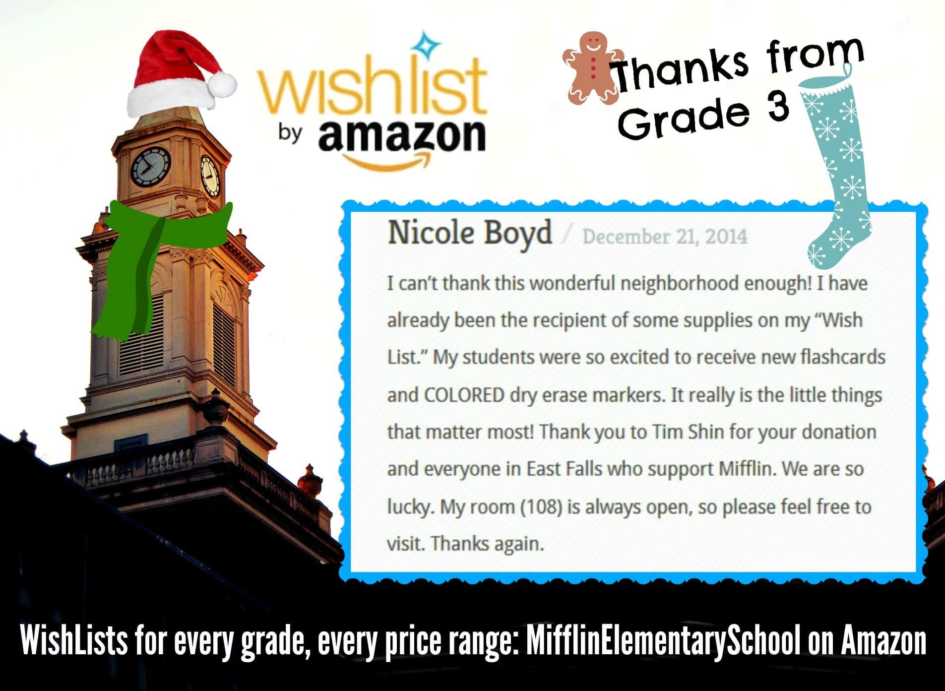 EastFallsLocal Nicole Boyd thank you to Tim Shin