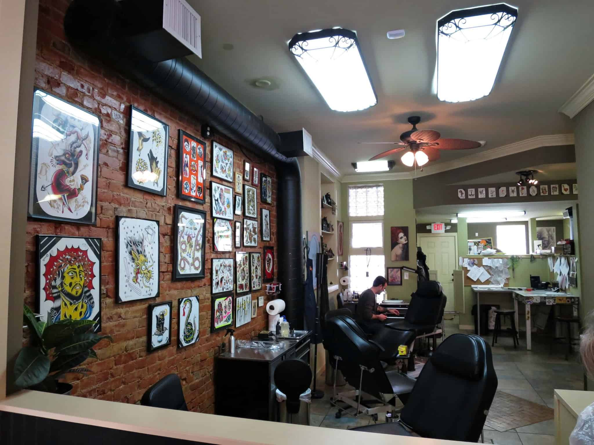 Tattoo parlor interior design joy studio design gallery for Tattoo shop design