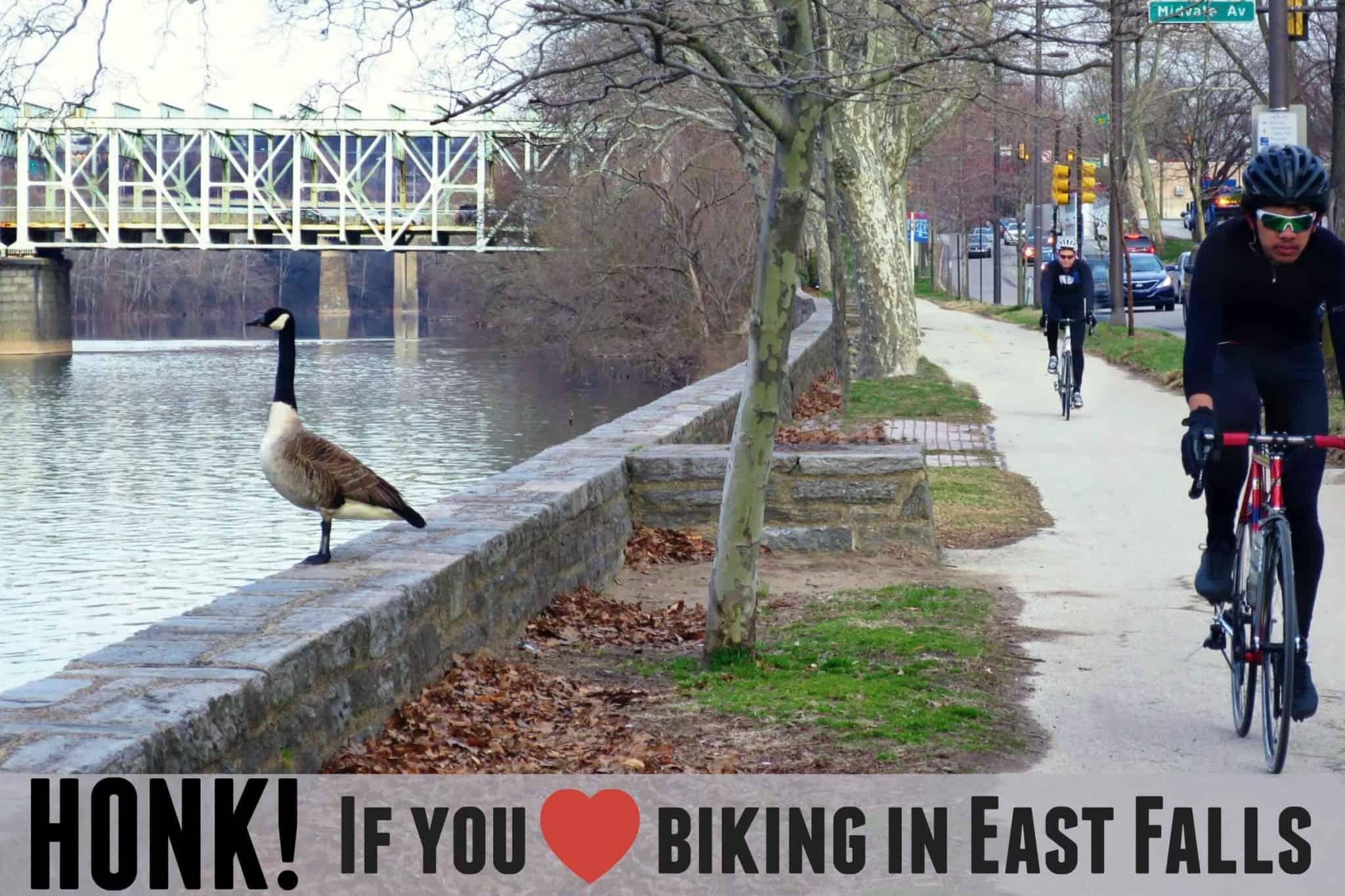 EastFallsLocal Honk if you love biking in east falls
