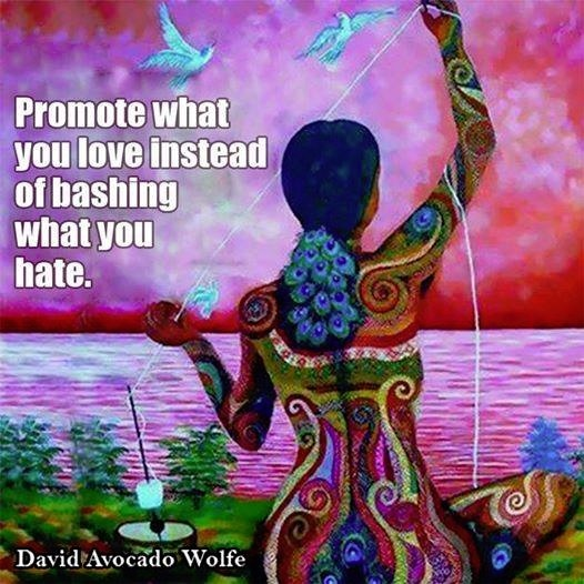 promote wha you love instead of bashing what you hate