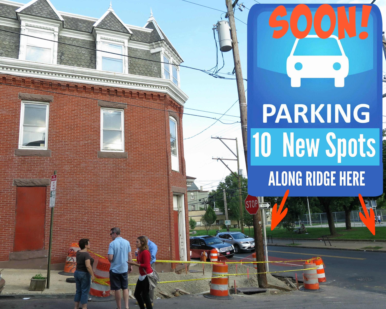 EastFallsLocal soon parking 10 new spots here