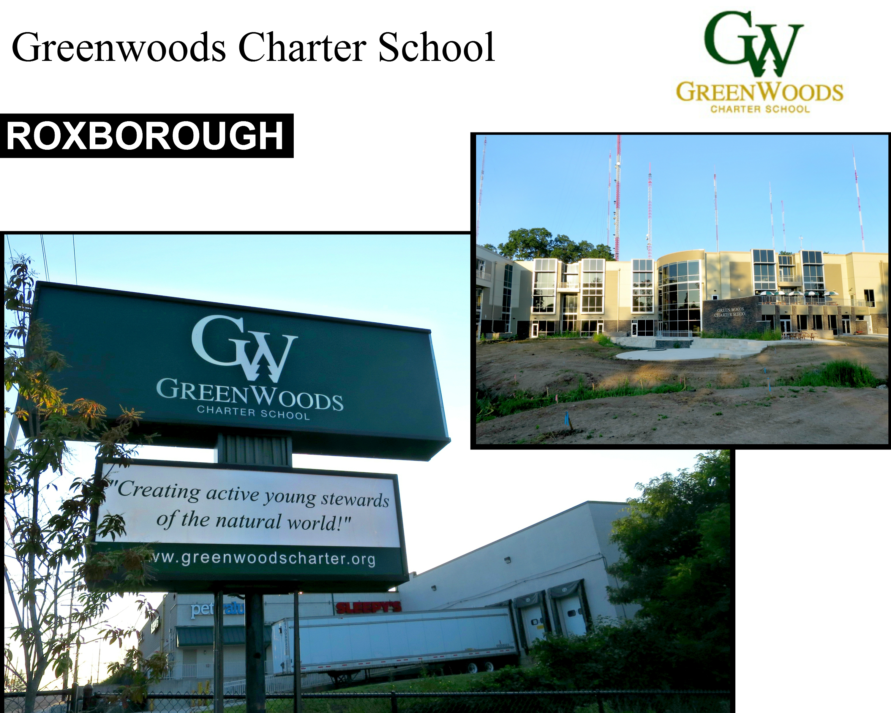 Eastfallslocal GreenWoods charter collage text