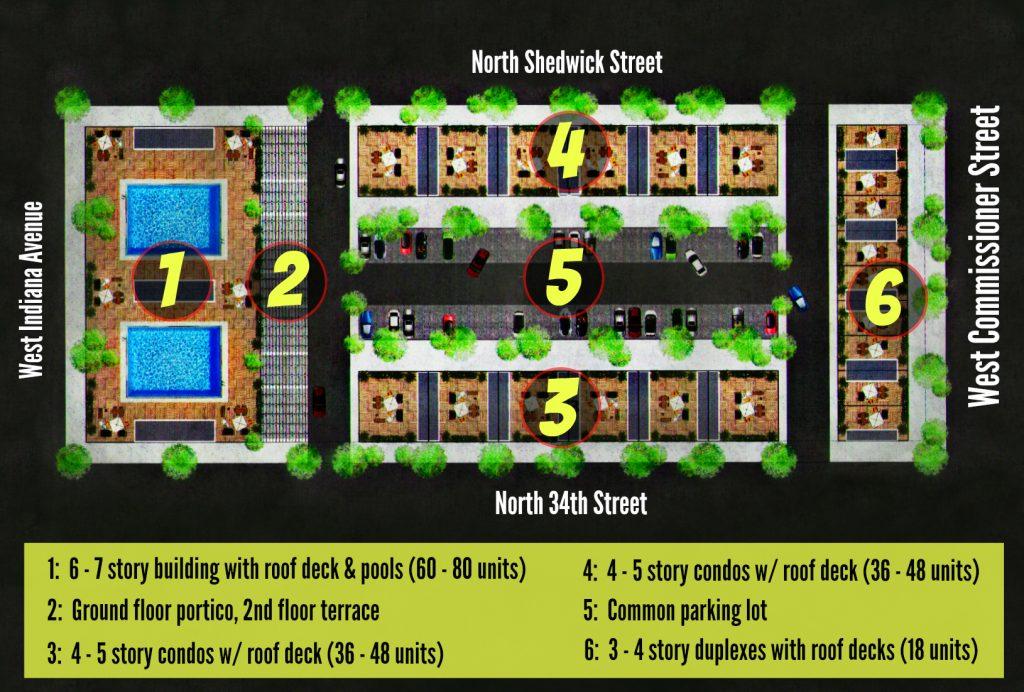 EastFallsLocal 3000 N. 34th Street plans page street names plus key circles