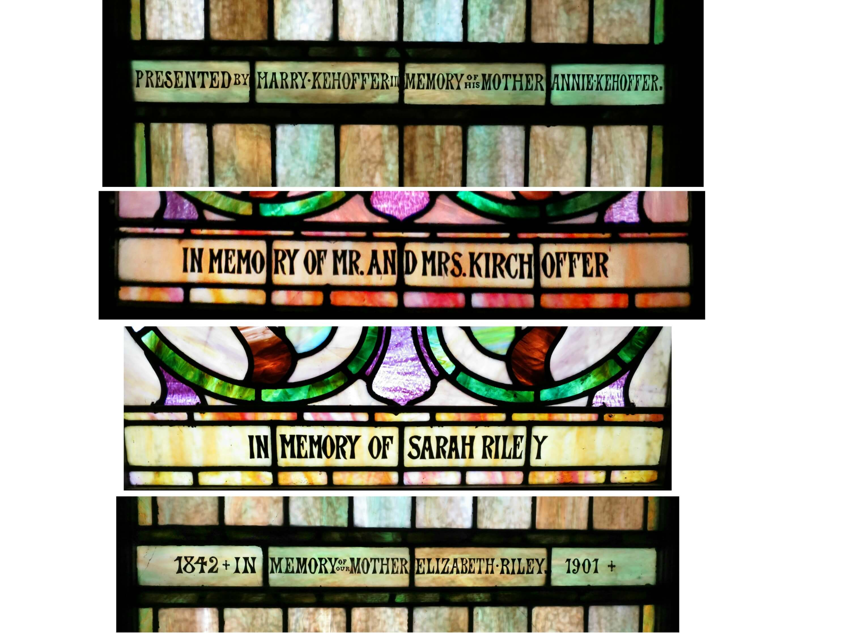 Eastfallslocal Redeemer collage name plates dates