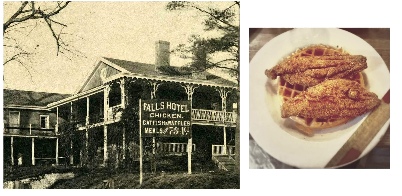 Eastfallslocal catfish waffles collage