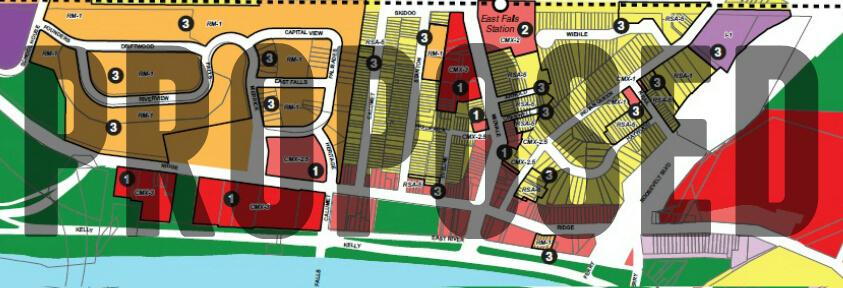 EastFallsForward PR0POSED zoning map crop text