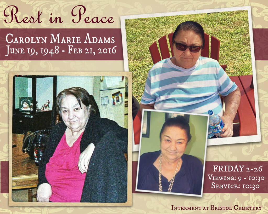 Eastfallslocal Rest in peace text carolyn marie adams