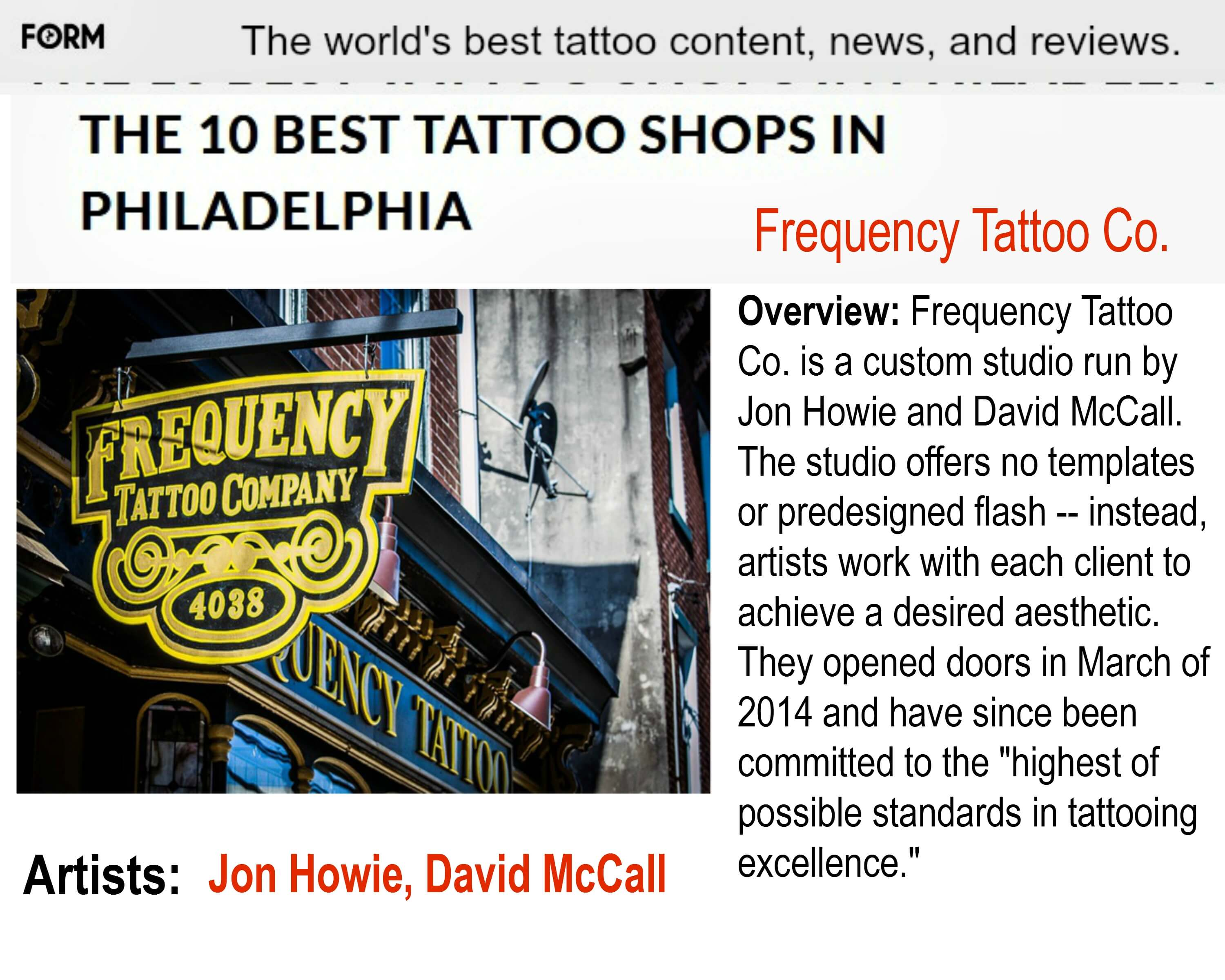 Tattoos are people too east falls local for David mccall tattoo