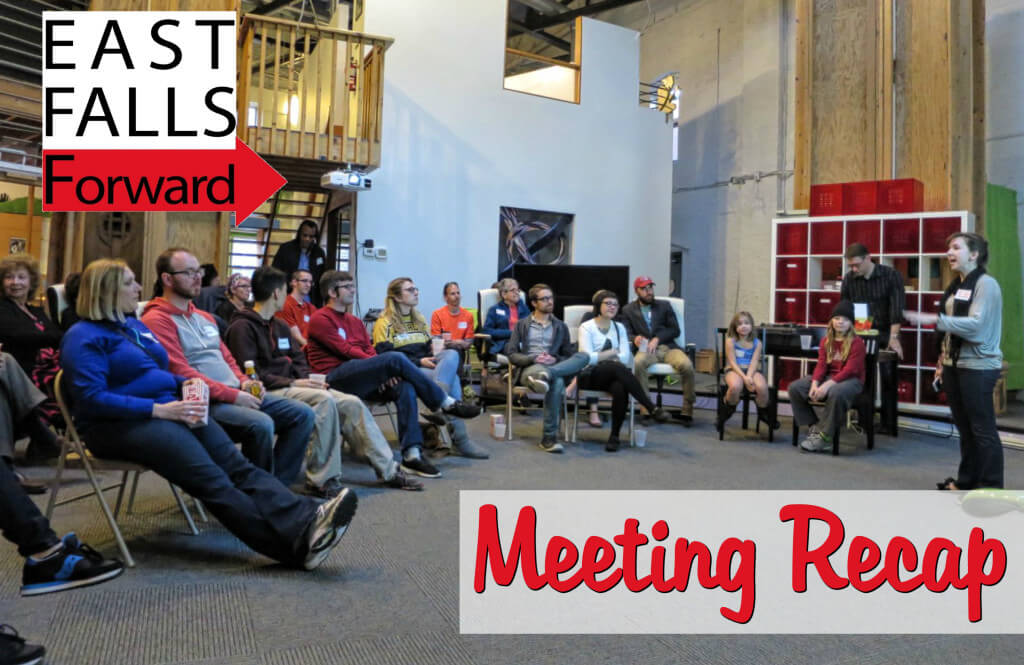 EastFallsLocal March Meeting Recap post