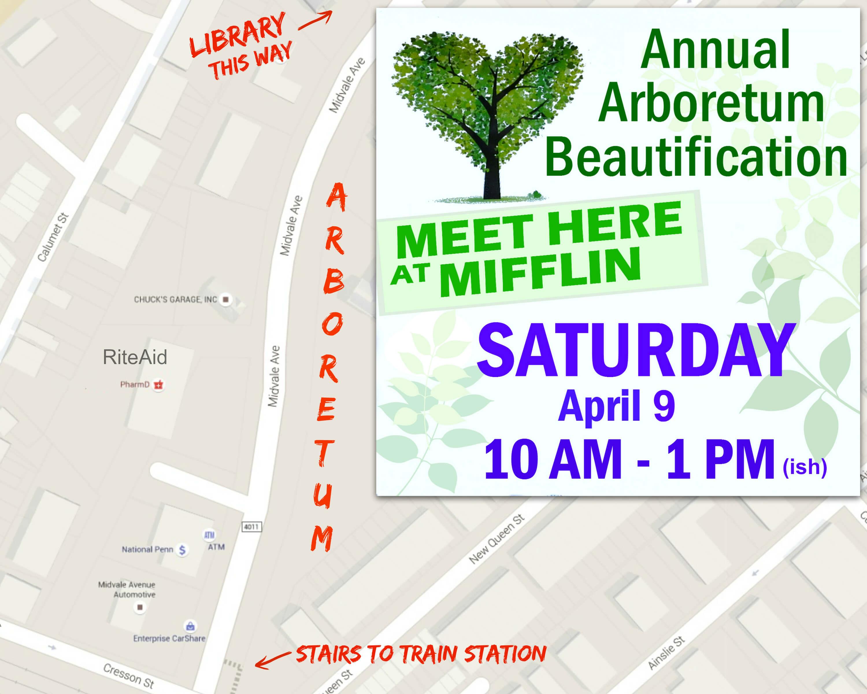 EastFallsLocal mifllin arboretum collage text map