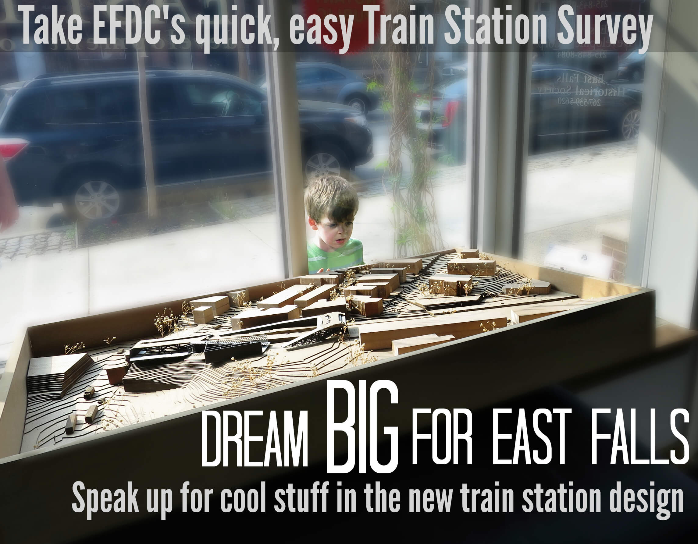 Eastfallslocal meme 2 5-7 Kid staring at models for train station