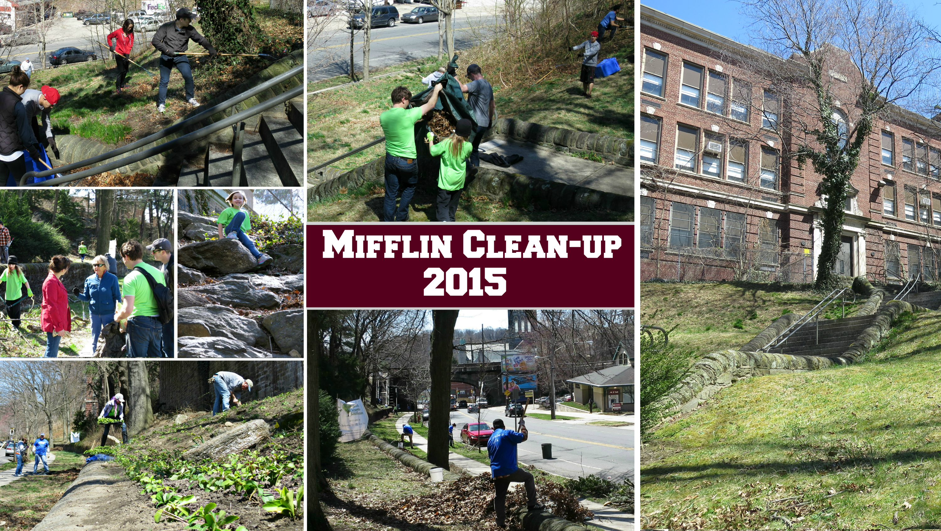 EastFallsLocal Mifflin cleanup collage 2015