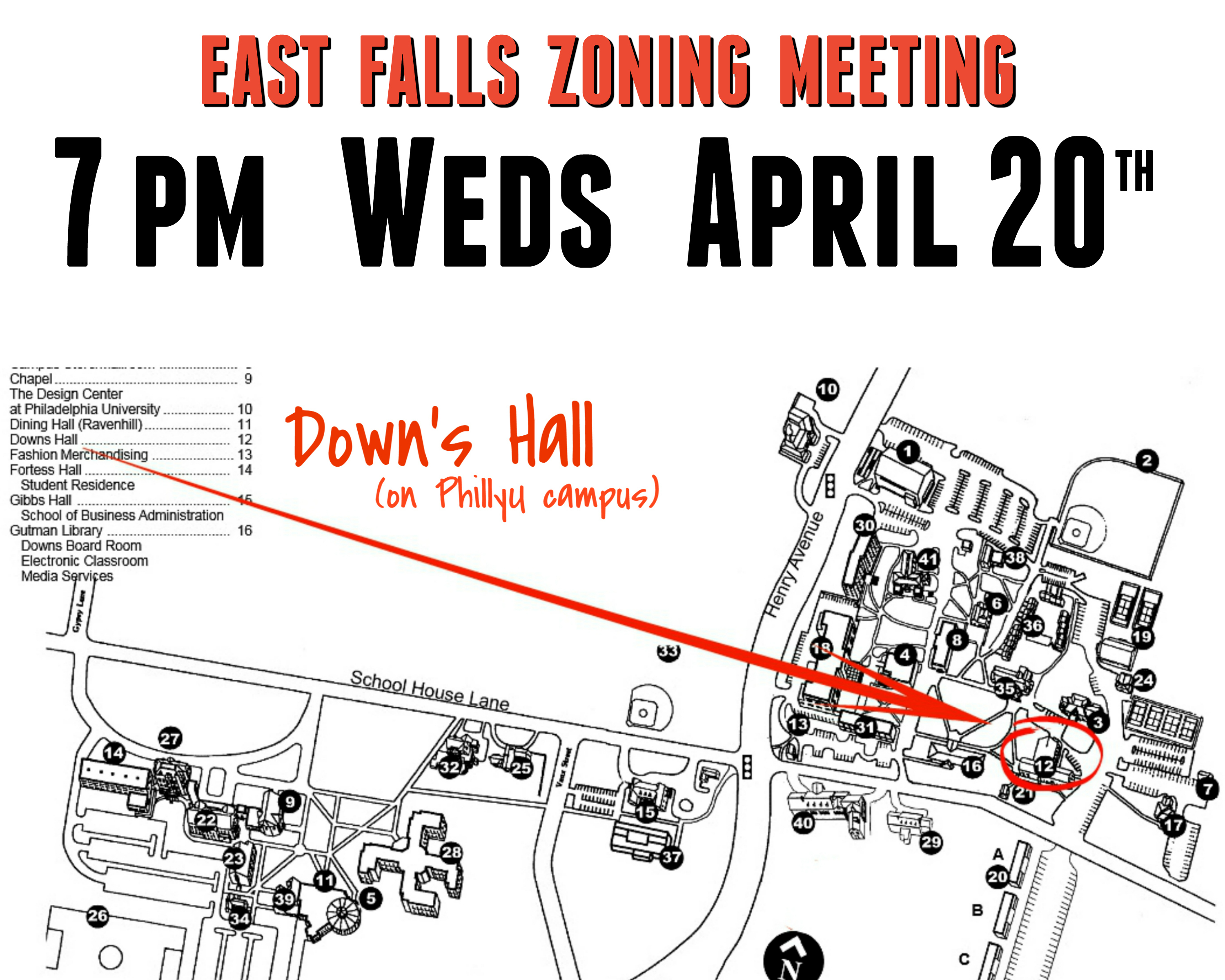 EastFallsLocal zoning meeting announcement