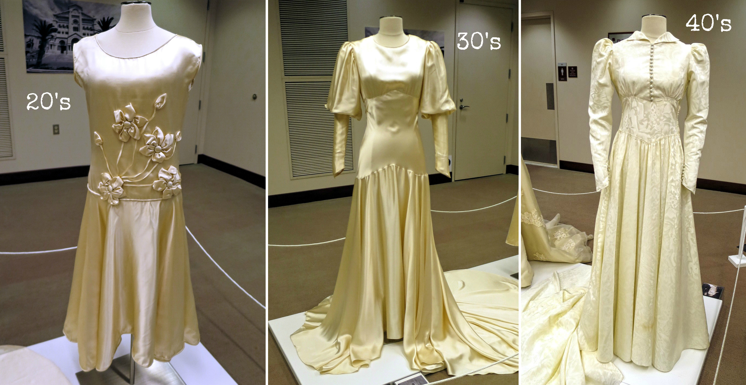 EastFallsLocal 20s 30s 40s collage wedding dress