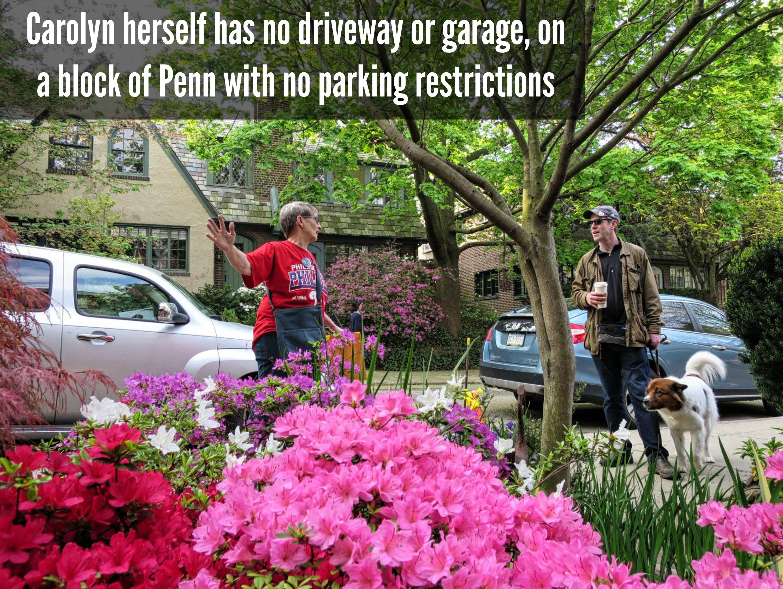 EastFallsLocal Carolyn Sutton text no parking restrictions on her block of Penn