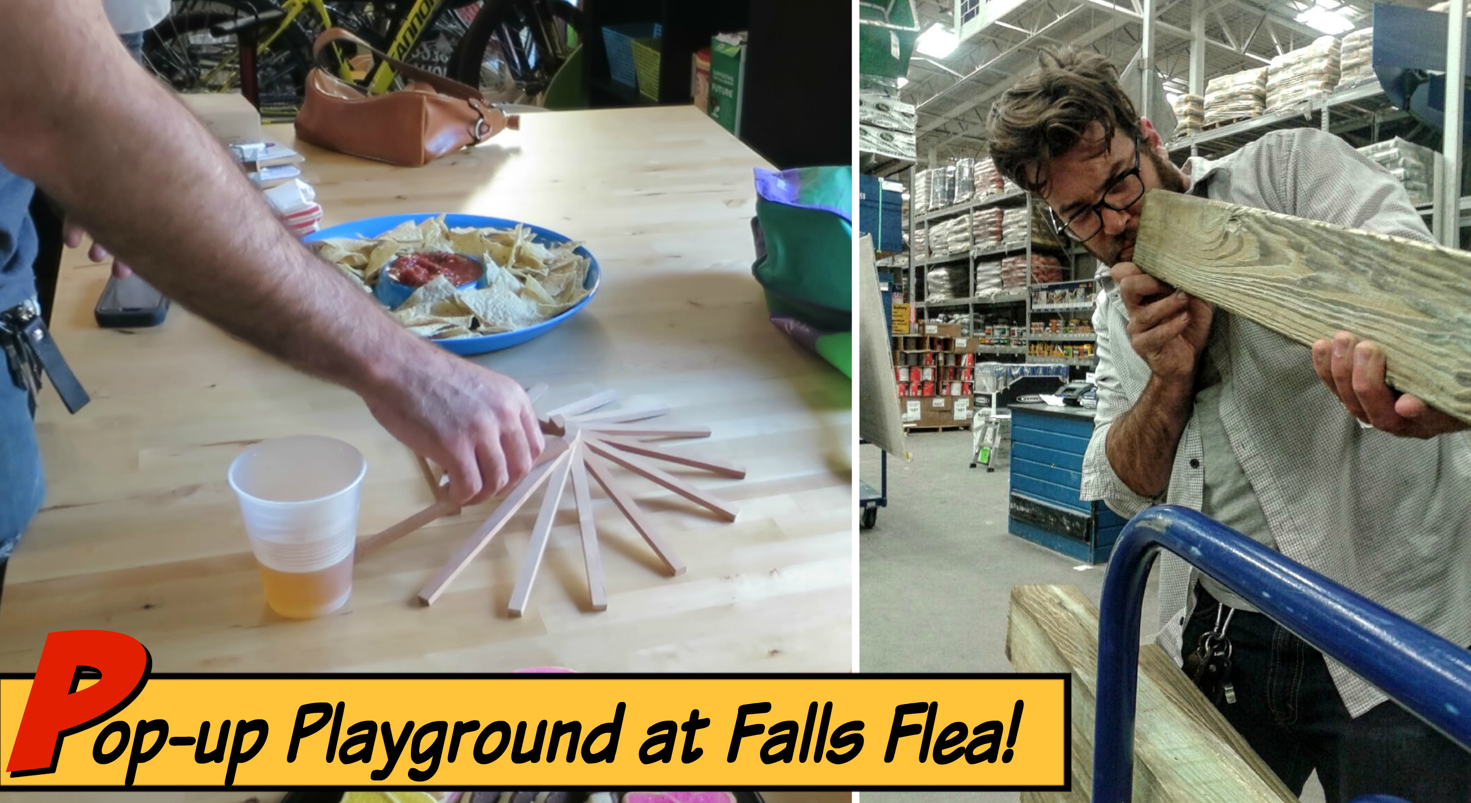EastFallsLocal Pop Up Playground Falls Flea