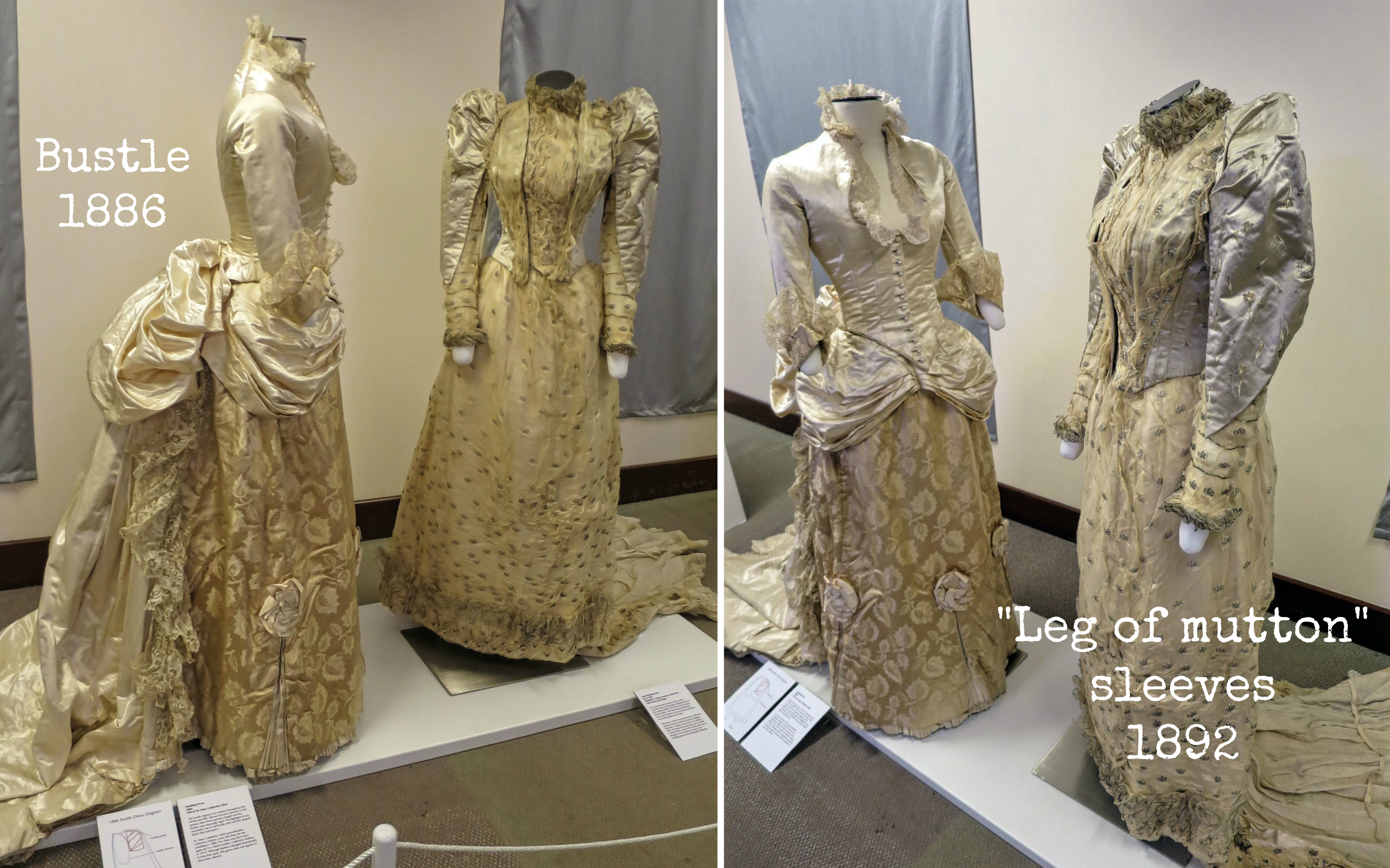 EastFallsLocal collage historic wedding dresses 1800s
