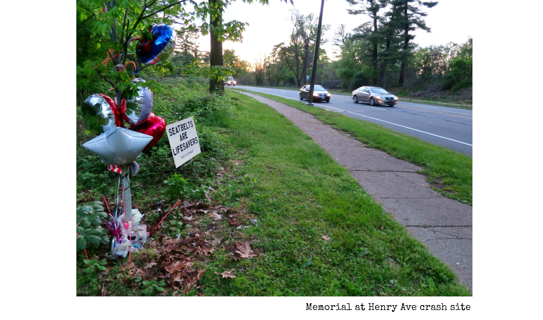 EastFallsLocal collage memorial henry ave crash site survey