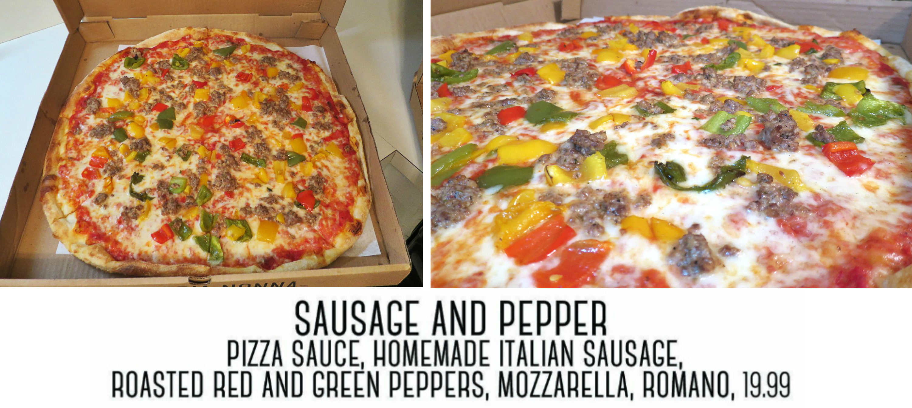 EastFallsLocal sausage pizza collage