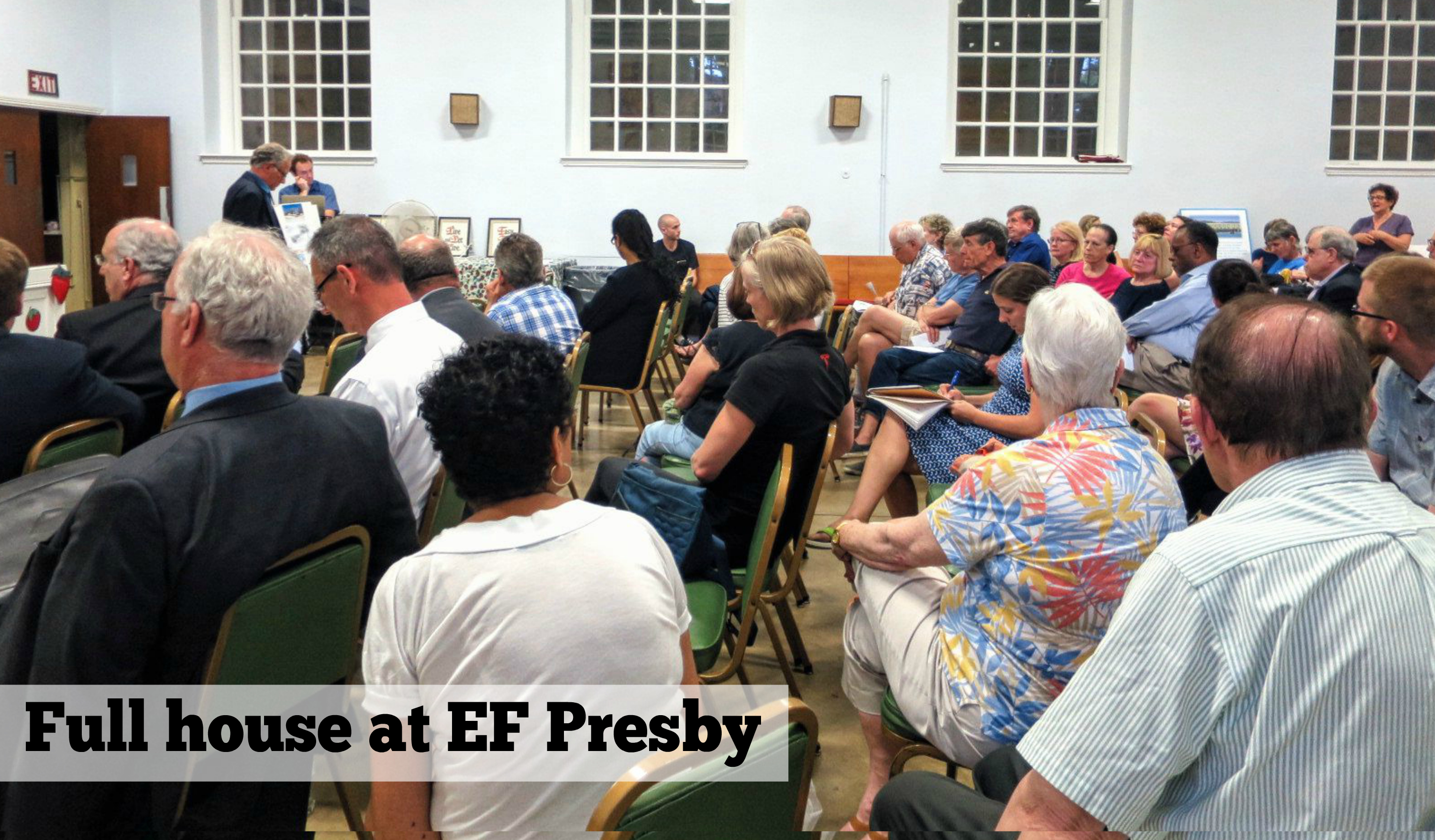 EastFallsLocal Recap with Video Emergency PhilllyU meeting 6-6-16 Full House at EF Presby