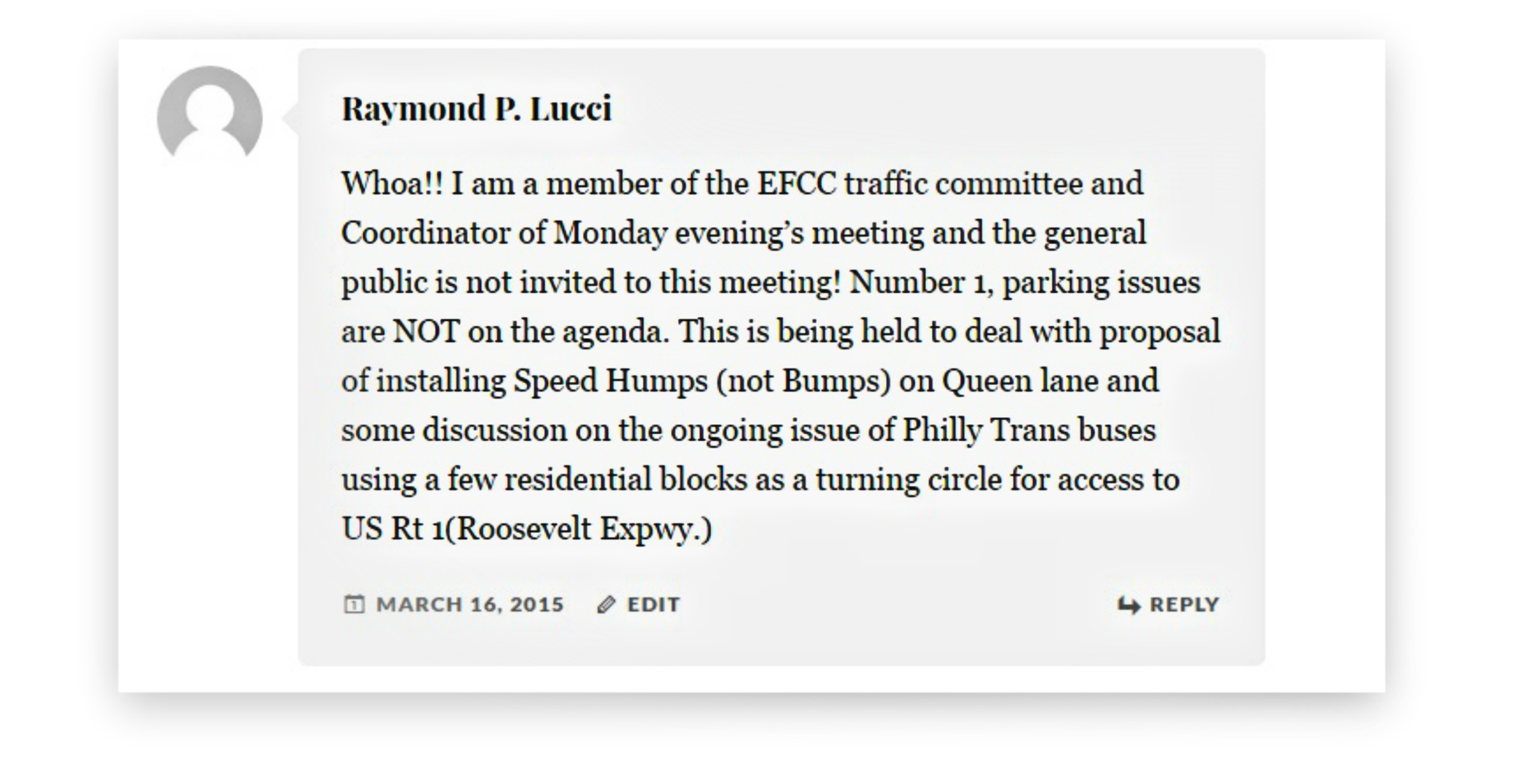 EastFallsLocal resize ray lucci comment