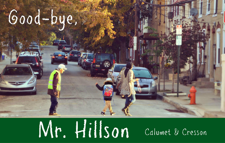 EastFallsLocal resize Mr Hillson crosses street kid waves calumet cresson txt