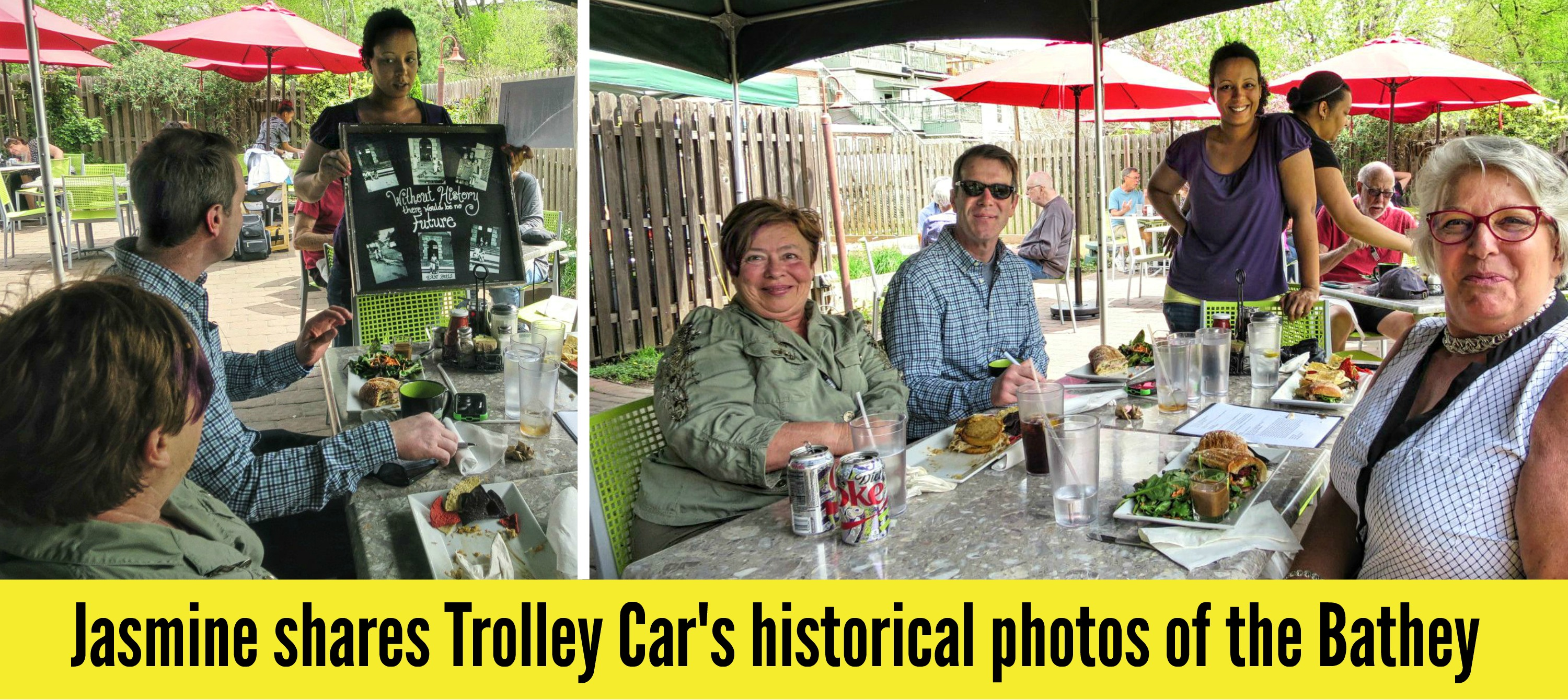 EastFallsLocal trolley car collage tx