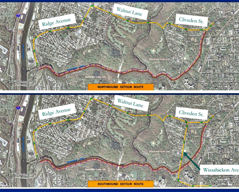 EastFallsLocal Streets Dept Lincoln Drive detour 2016 map CRPOP