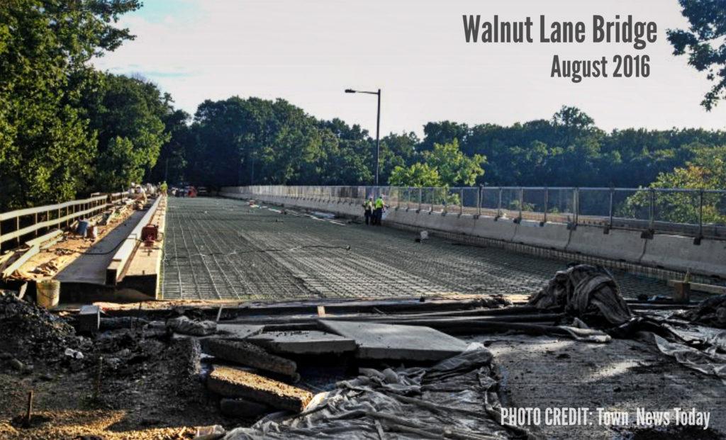 EastFallsLocal Walnut Lane Bridge nears completion Judy Gotwald Aug 2016 txt