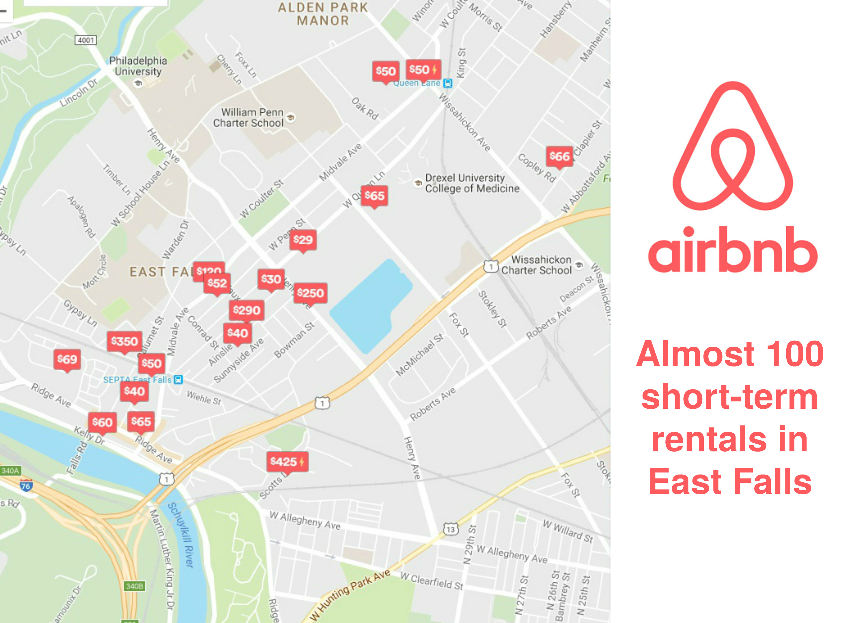 EastFallsLocal airbnb map collage txt