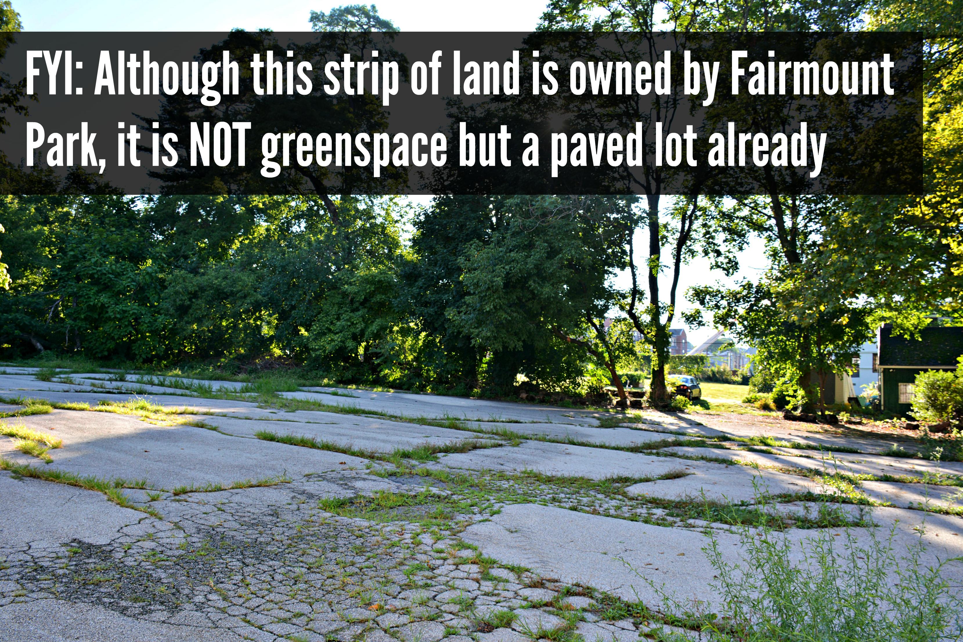 EastFallsLocal parking lot text