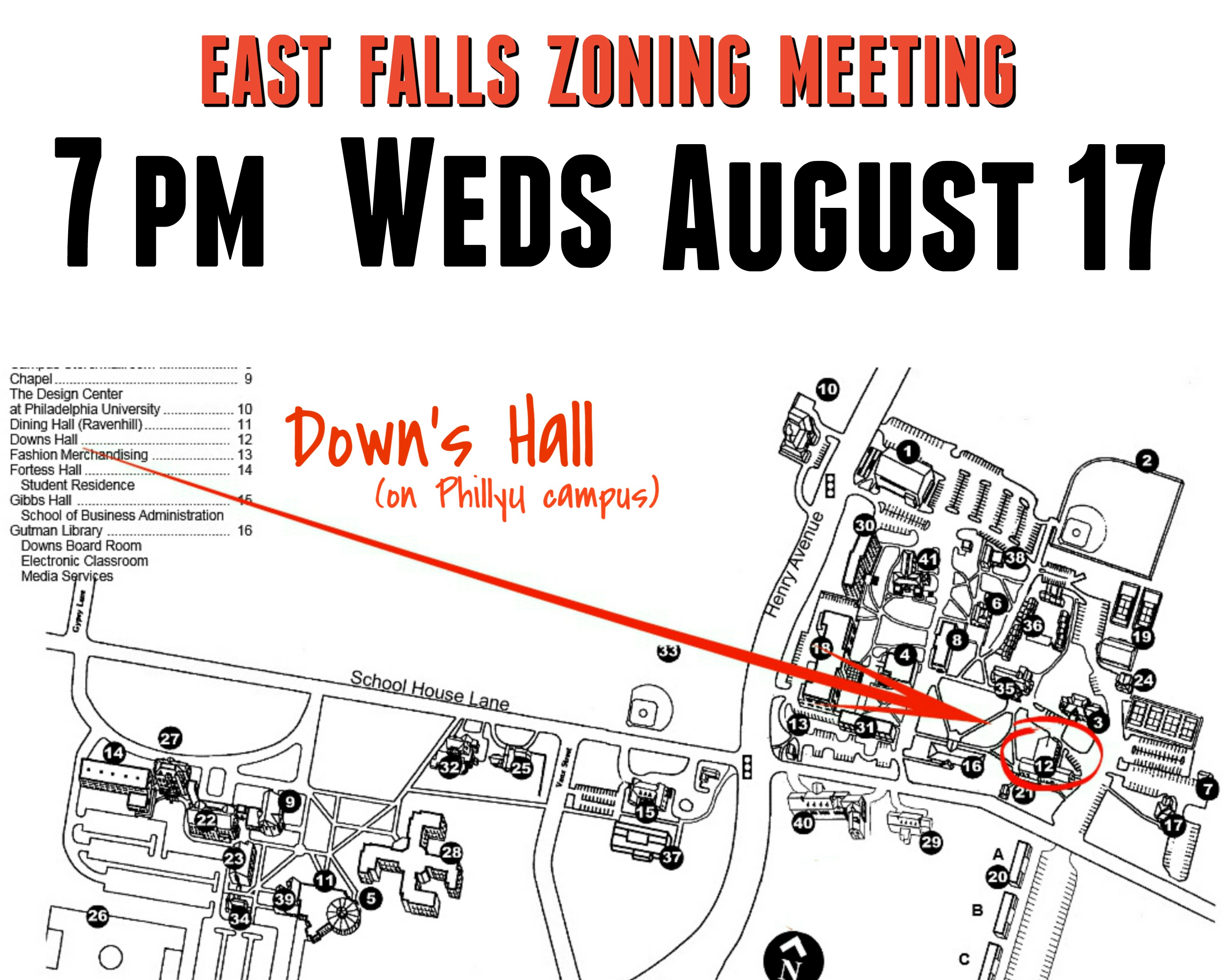 EastFallsLocal zoning meeting announcement AUG