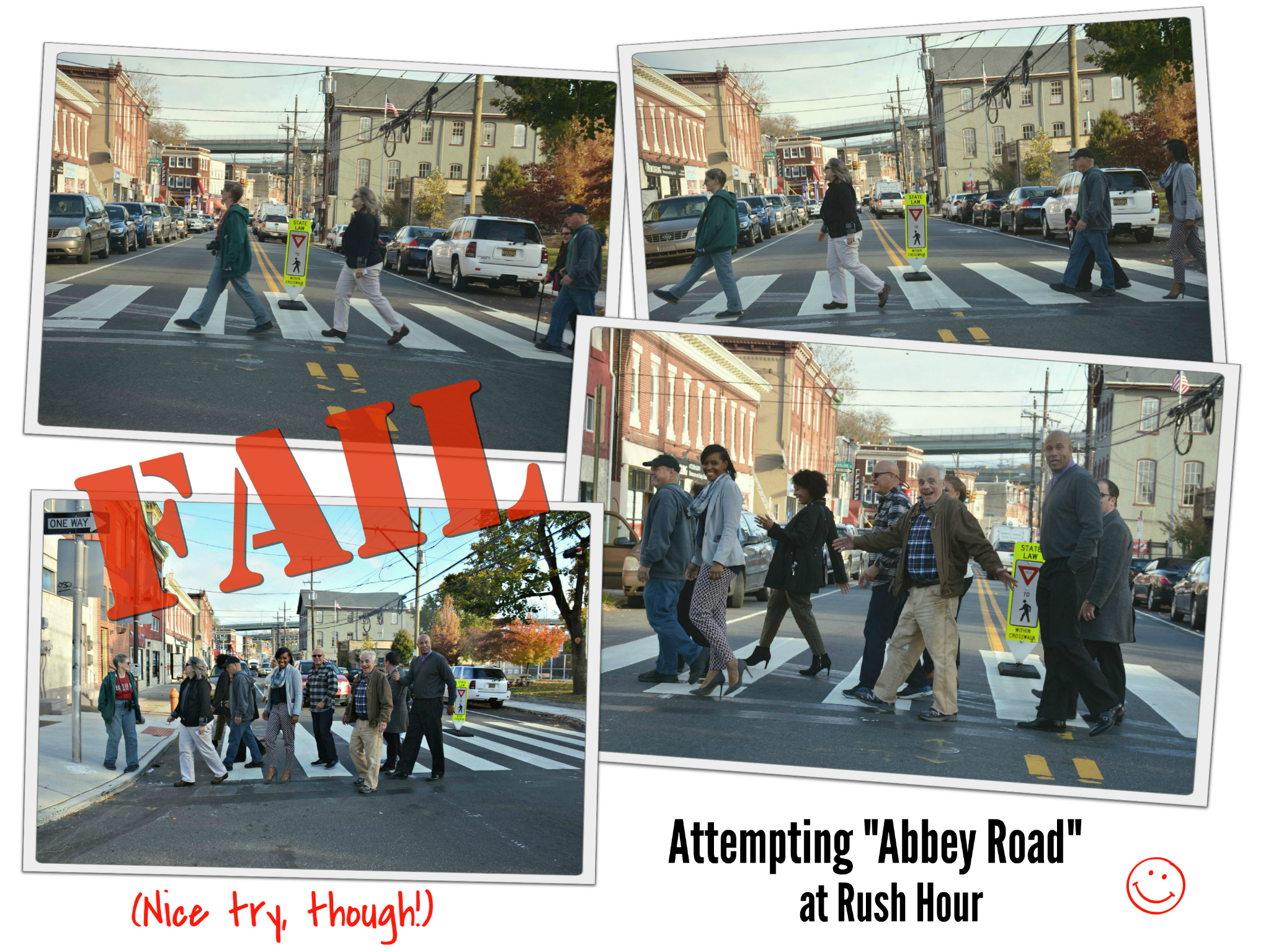 eastfallslocal-collage-attempting-abbey-road-at-rush-hour-fail-smile